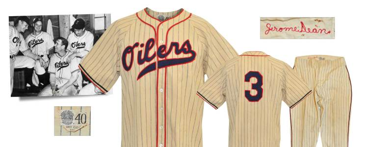 "1940 Jerome ""Dizzy"" Dean Tulsa Oilers Game-Used Home Flannel Uniform"