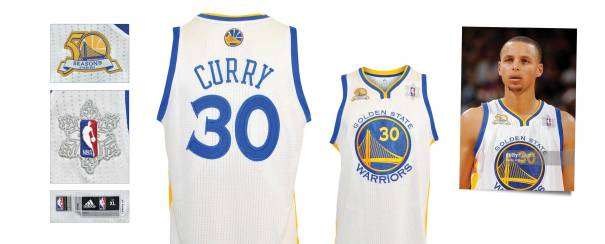 12/25/2011 Stephen Curry Golden State Warriors Game-Used Christmas Day Home Jersey