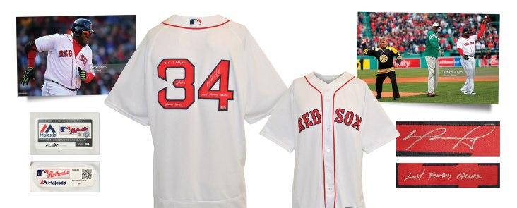 4/11/2016 David Ortiz Boston Red Sox Home Opener Game-Used & Autographed Home Jersey