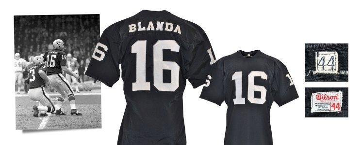 Circa 1969-70 George Blanda Oakland Raiders Game-Used Home Jersey (Graded A10)