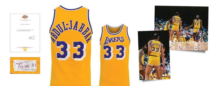 1984-85 Kareem Abdul-Jabbar Los Angeles Lakers Game-Used Home Jersey