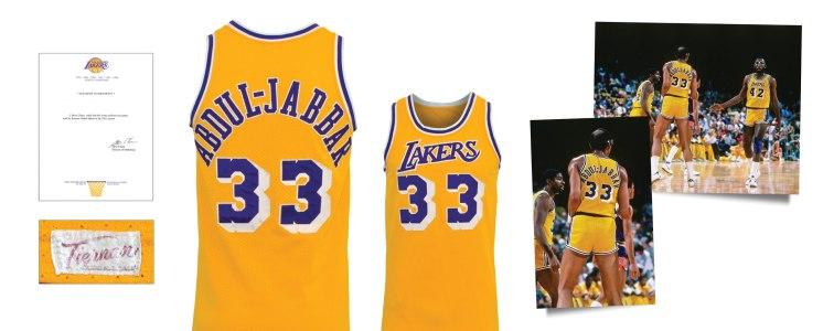 1984-85 Kareem Abdul-Jabbar Los Angeles Lakers Game-Used Home Jersey