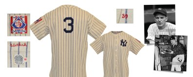 1939 George Selkirk New York Yankees Game-Used Pinstriped Home Flannel Jersey (Babe Ruth's Iconic NY No. 3)