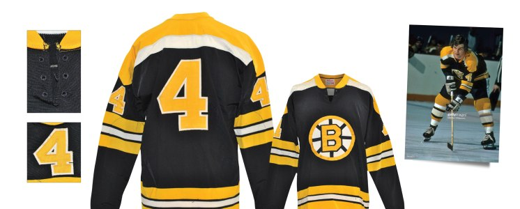 Late 1960s - Early 1970s Bobby Orr Boston Bruins Game-Used Road Durene Jersey