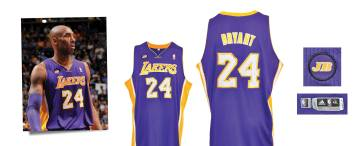 2012-13 Kobe Bryant Los Angeles Lakers Game-Used Road Jersey