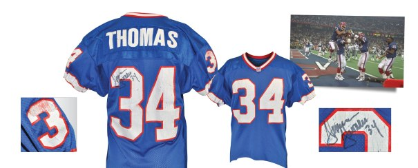 1/30/1994 Thurman Thomas Buffalo Bills Super Bowl XXVIII Game-Used & Autographed Jersey