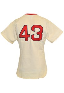 LOT #997: 1978 Dennis Eckersley Boston Red Sox Game-Used Home Jersey