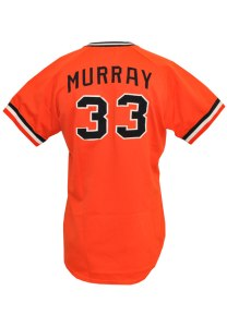 LOT #998: 1977 Eddie Murray Rookie Baltimore Orioles Game-Used Home Jersey (AL Rookie of the Year)