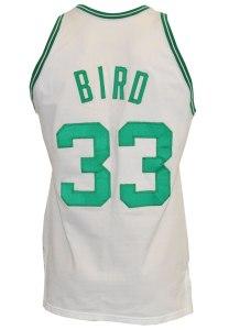 LOT #995: 1983-84 Larry Bird Boston Celtics Game-Used Home Jersey (Championship Season • Regular Seasson & Finals MVP • Team Employee LOA)
